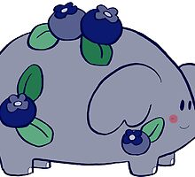 Blueberry Elephant by SaradaBoru