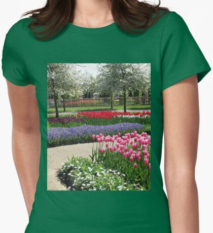 Rows of Colour - Keukenhof Gardens, Holland Womens Fitted T-Shirt