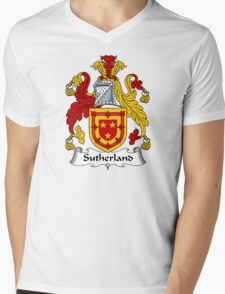 Sutherland Coat of Arms / Sutherland Family Crest Mens V-Neck T-Shirt