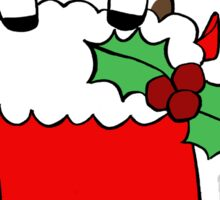 Christmas Stocking Cow Sticker