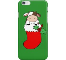 Christmas Stocking Cow iPhone Case/Skin