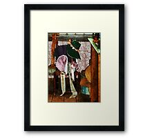 Two Old-Fashioned Bonnets Framed Print