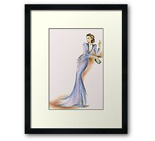 Lady in Lilac Framed Print