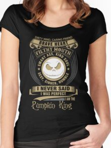 I am the Pumpkin king Women's Fitted Scoop T-Shirt
