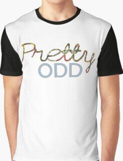 'Pretty Odd' Typography Illustration Graphic T-Shirt