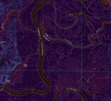 USGS TOPO Map Alabama AL Bilbo Island 331455 1983 24000 Inverted Sticker