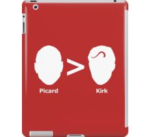 Picard > Kirk iPad Case/Skin
