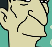 futurama leonard nimoy head sticker Sticker