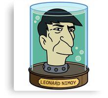 futurama leonard nimoy head sticker Canvas Print