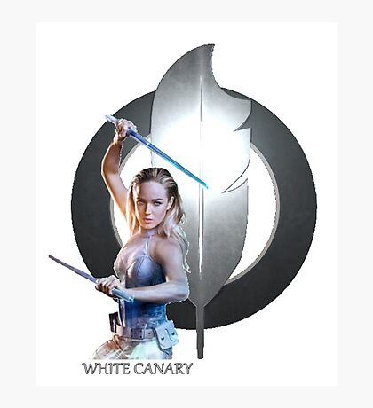 White Canary Photographic Print