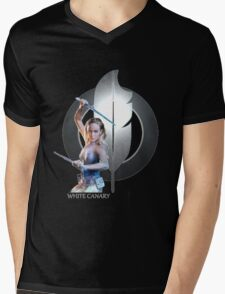 White Canary Mens V-Neck T-Shirt