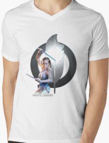 White Canary Mens V-Neck T-Shirt