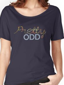 'Pretty Odd' Typography Illustration Women's Relaxed Fit T-Shirt