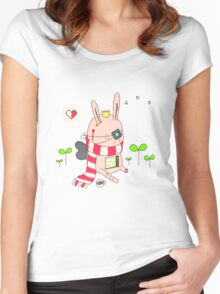 Bunny boy Women's Fitted Scoop T-Shirt