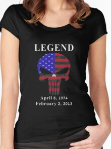 RIP Chris Kyle Memorial, the Legend Women's Fitted Scoop T-Shirt