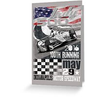 indy 500 Greeting Card