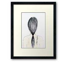 Girl with tattoo Framed Print