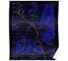 USGS TOPO Map Alabama AL Farley 303817 1950 24000 Inverted Poster