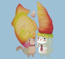 Taiyaki and carrots One Piece - Short Sleeve