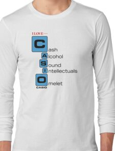 CASH - ALCOHOL - SOUND - INTELLECTUALS - OMELET Long Sleeve T-Shirt
