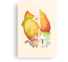 Taiyaki and carrots Metal Print