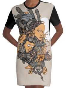 Space Girl Graphic T-Shirt Dress