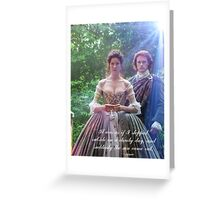 Outlander/Jamie Wedding day Quote Greeting Card