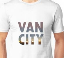 VanCity image within text Unisex T-Shirt