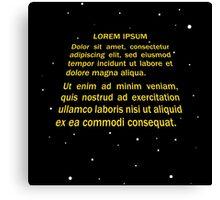 Lorem ipsum Canvas Print