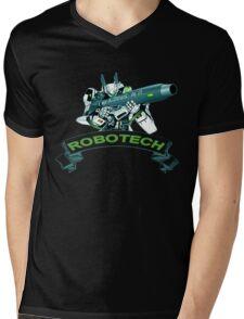 Robotech u,n spacy Mens V-Neck T-Shirt