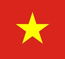 Vietnam Flag Stickers by Mark Podger