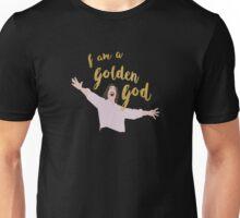 Golden God in Black Unisex T-Shirt
