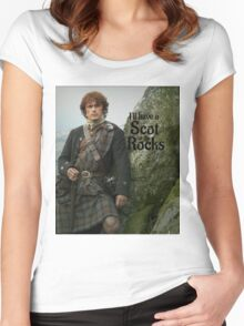 Outlander/ Jamie Fraser/Scot on the Rocks Women's Fitted Scoop T-Shirt