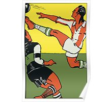 Football soccer retro vintage style Poster