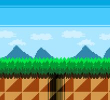 Pixel Art Scenic View Sticker