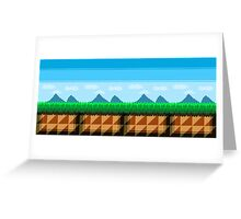 Pixel Art Scenic View Greeting Card