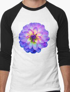 Purple Blooming Flower Men's Baseball ¾ T-Shirt