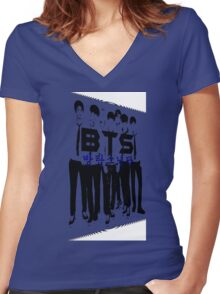 ♥♫BTS-Bangtan Boys K-Pop Clothes & Phone/iPad/Laptop/MackBook Cases/Skins & Bags & Home Decor & Stationary♪♥ Women's Fitted V-Neck T-Shirt