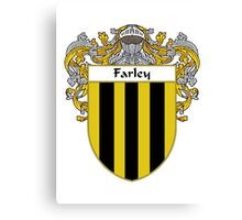 Farley Coat of Arms/Family Crest Canvas Print