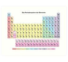 Das Periodensystem der Elemente - German Periodic Table Art Print