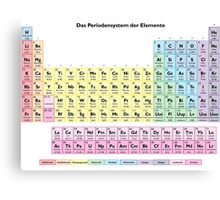 Das Periodensystem der Elemente - German Periodic Table Canvas Print