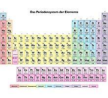 Das Periodensystem der Elemente - German Periodic Table Photographic Print