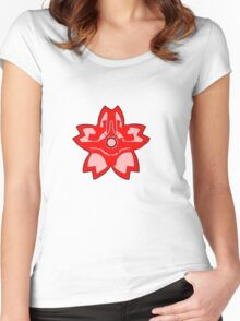 Coruscant Guard flower Women's Fitted Scoop T-Shirt