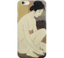 Vintage famous art - Hashiguchi Goyo - Woman Bathing 1915 iPhone Case/Skin