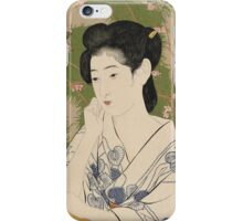 Vintage famous art - Hashiguchi Goyo - Woman At A Hot Spring Hotel iPhone Case/Skin