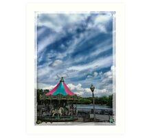 Smithville Carousel Art Print