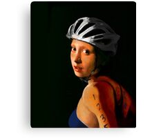Girl with Pearl Earring Update- Triathelete Canvas Print