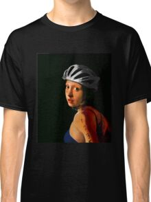 Girl with Pearl Earring Update- Triathelete Classic T-Shirt