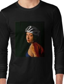 Girl with Pearl Earring Update- Triathelete Long Sleeve T-Shirt