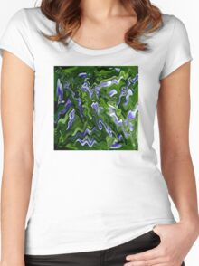 Abstract Pansy Women's Fitted Scoop T-Shirt